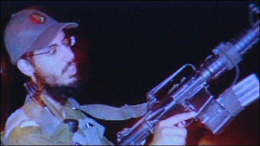 Screengrab of Israeli army soldier