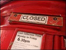 Post box sealed shut in London