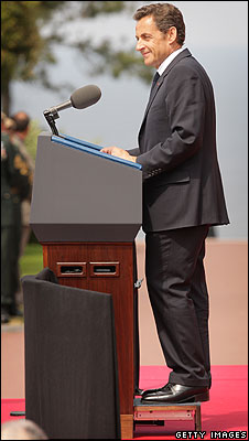 Sarkozy at D-Day event