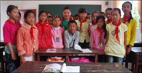 Li Ya Fang and her class