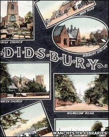 Detail of a 1905 postcard of Didsbury