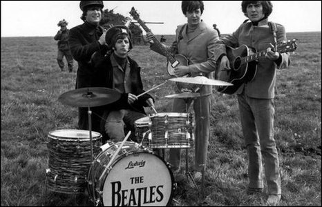 An undated early photo of The Beatles