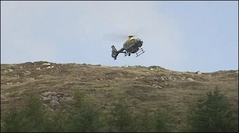 Helicopter pictured during Forkhill security alert