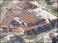 Aerial shot of Bournemouth International Centre