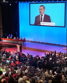 Gordon Brown at the 2007 Labour Party Conference