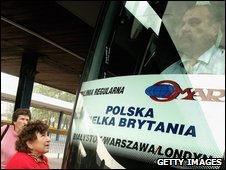 Bus from Warsaw to London