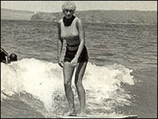 Cornish surfer Gwyn Haslock in 1966 aged 21