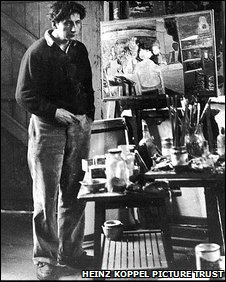Heinz Koppel in his Dowlais studio.