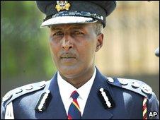 Kenya's former police commissioner, Maj Gen Hussein Ali, in 2007