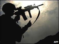 US soldier in Afghanistan (file)