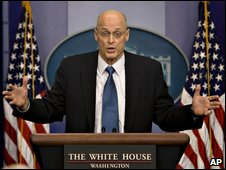 Henry Paulson announcing bank collapse