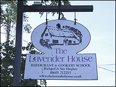 The Lavender House sign
