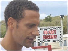 Rio Ferdinand at the holiday park