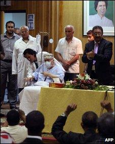 Abdelbaset Ali al-Megrahi in hospital, 09/09
