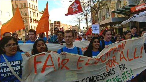 Student protest in Australia