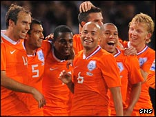 The Dutch celebrate their victory