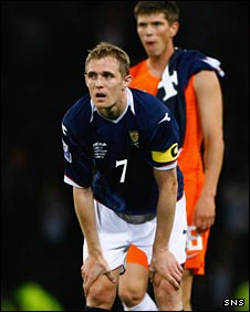 Scotland captain Darren Fletcher is disappointed at the final whistle