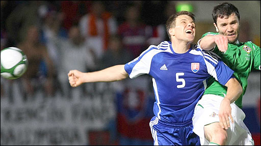 Northern Ireland were beaten 2-0 by Slovakia