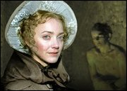 Lucy Davenport as Mary Shelley in a dramatised documentary