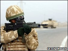 British Army soldier in Basra, Iraq