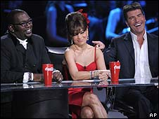 Randy Jackson, Paula Abdul and Simon Cowell