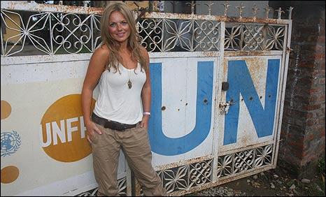Geri Halliwell in Nepal