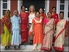 Geri Halliwell with Nepalese women