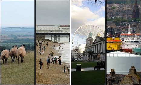'The Countryside', Brighton & Hove, Belfast and Aberdeen are all in the running for the UK's first City of Culture