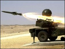 Rapier missile launched during RAF exercise in Oman