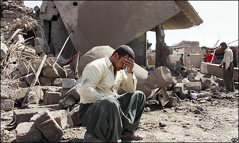 Aftermath of bombing in Wardek, near Mosul - 10 Sept 2009