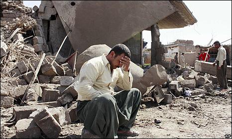 Aftermath of bombing in Wardek, near Mosul - 10 Sept 2009
