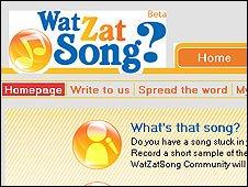 WatZatSong website