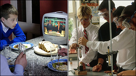 TV and Chemistry Lab