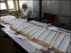 Counting of votes in Afghanistan (21 August)