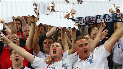 England fans celebrate