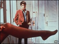 Dustin Hoffman as Benjamin Braddock in The Graduate