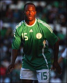Sone Aluko playing for Nigeria