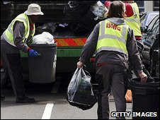 Rubbish collectors in London