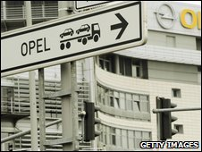 Sign for Opel factory