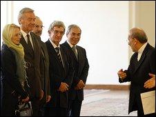 Iran Foreign Minister Manouchehr Mottaki, right  9.9.09