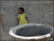 Child in drought-stricken Bihar, India, Aug 2009