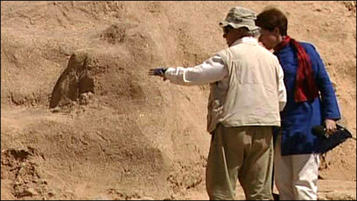 Archaeology dig in Bamiyan