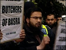 The Islamist demonstration in Luton against British soldiers