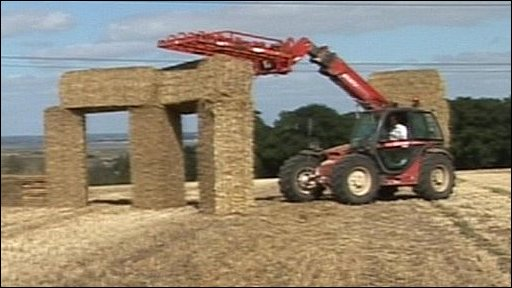 Straw Stonehenge