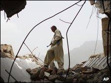 Militia member in north-western Pakistan