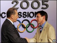 Jacques Rogge with Lord Sebastian Coe