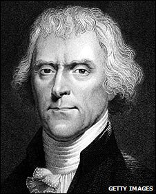 Former US President Thomas Jefferson