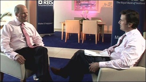 Stephen Hester and Robert Peston