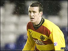 Simon Storey in action for Thistle