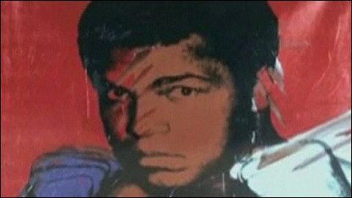 Warhol painting of Muhammed Ali
